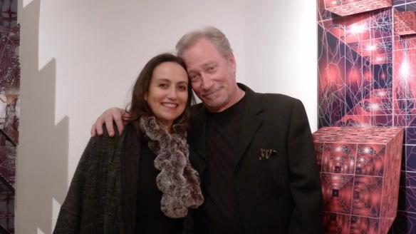 Sonia Rubinsky et jean-Claude Meynard chez Lelia Mordoch - Avril 2014
