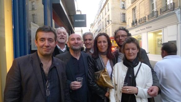 Vernissage de Jean-Claude Meynard - de gauche à droite : Olivier Vanuxem, Henry-François Debailleux, Alain Lamaignère, Gilles Bastianelli, Samantha Sellem, Bertrand Boucquey, Emilie Boiteau.