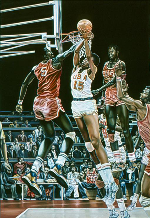 Basket - Toile Hyperréaliste de Meynard - 1975