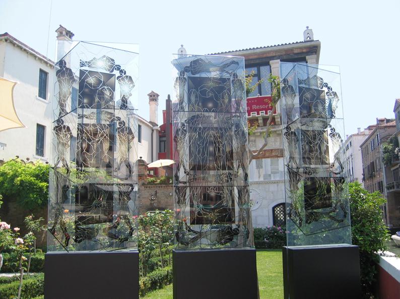 "Jean-Claude Meynard - "" Les Transparences Fractales"" chez Ca'Nigra, Venise, Italie"