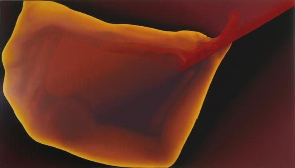 """Jean-Claude Meynard """"Comète"""", peinture acrylique sur toile 1983 89x160 cm  -"""