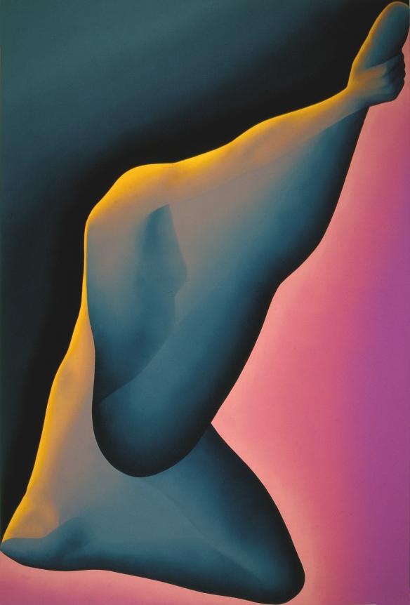 Contre-pied - Jean-Claude Meynard - peinture acrylique sur toile- 1983 - 146x89 cm
