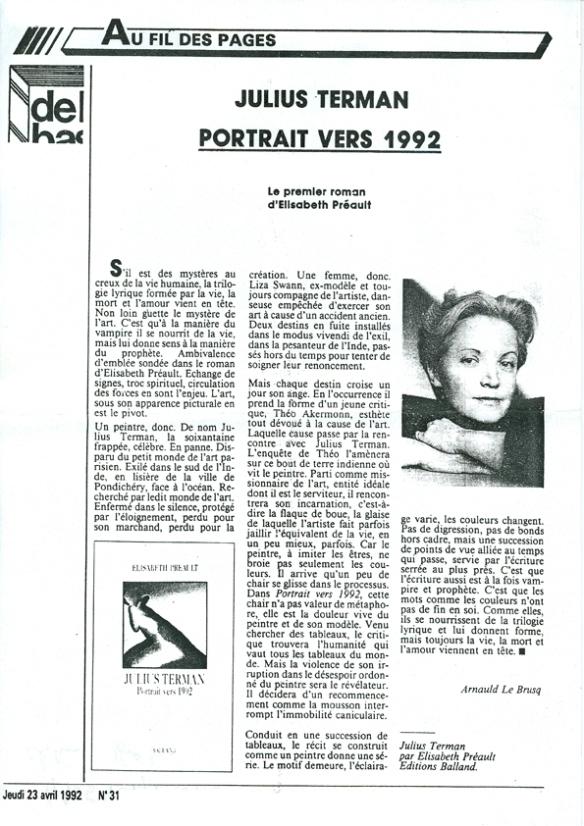 Article sur Elisabeth Préault