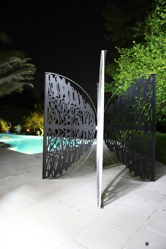 Papillon Fractal de Meynard -  Sculpture Métal  240 cm x 240 cm - Photo Pascal Le Moil - Août 2013