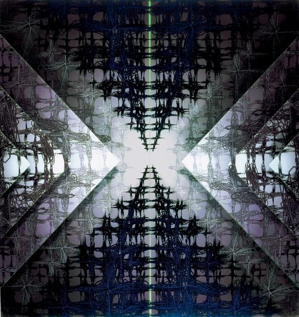 """""""Delta """" - Impression numérique sous plexiglas - 120 cm x 120 cm - 2001"""