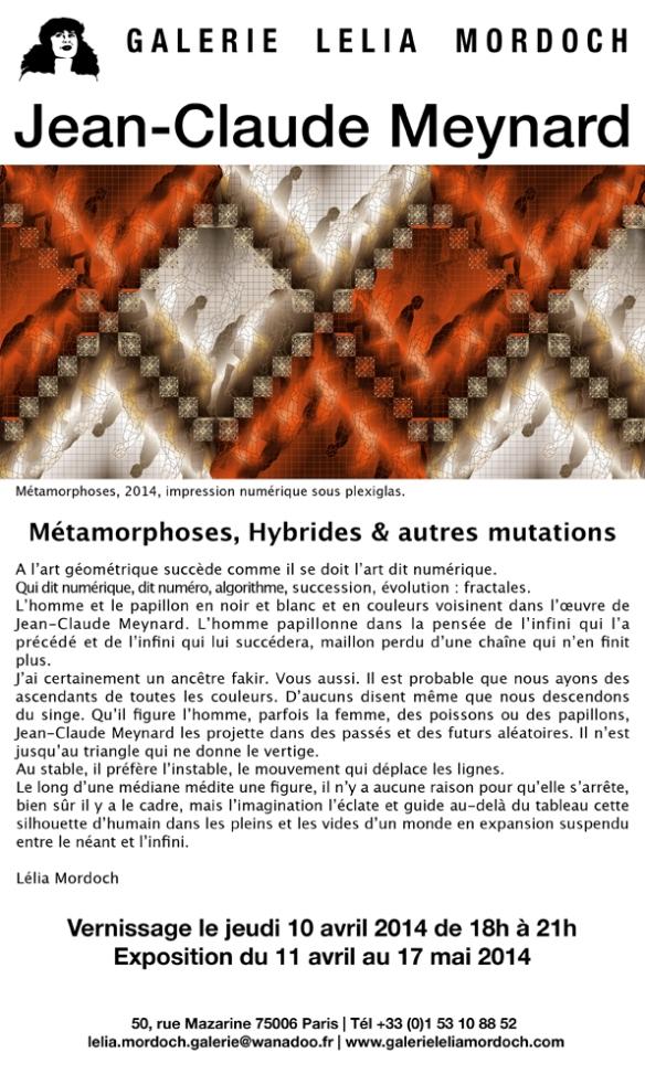 """Meynard chez Lelia Mordoch - exposition """" Métamorphoses, Hybrides et autres mutations """""""
