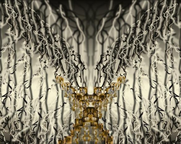 Bestiaire Fractal de Jean-Claude Meynard - L'arborescence du Cerf - 110 x 54 - Impression numérique argentique sous diasec - 2014