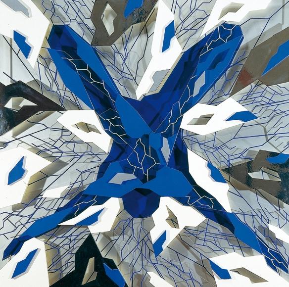 Icare de Jean-Claude Meynard - 1998 - 120 x 120 cm - Oeuvre en plexiglas