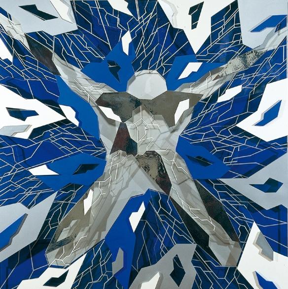 Icare I de Jean-Claude Meynard - 1998 - 120 x 120 cm - Oeuvre en plexiglas construite en reliefs