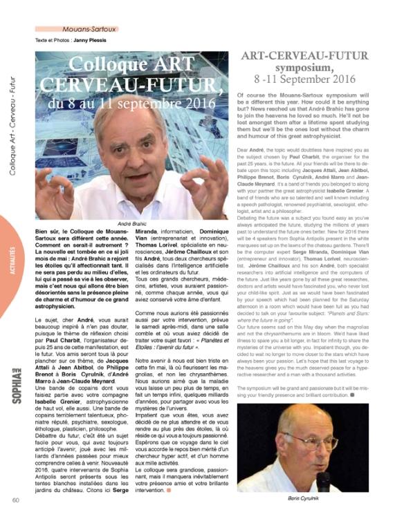 André Brahic devant une oeuvre fractale de JC Meynard